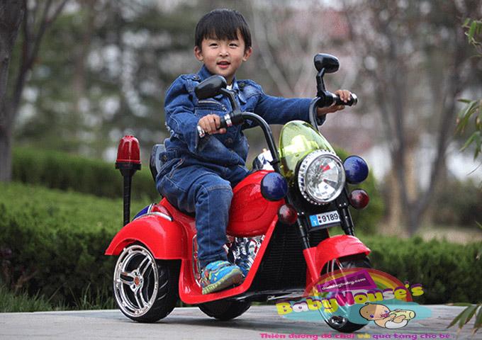 Xe máy điện trẻ em Harley PK 9189 đỏ