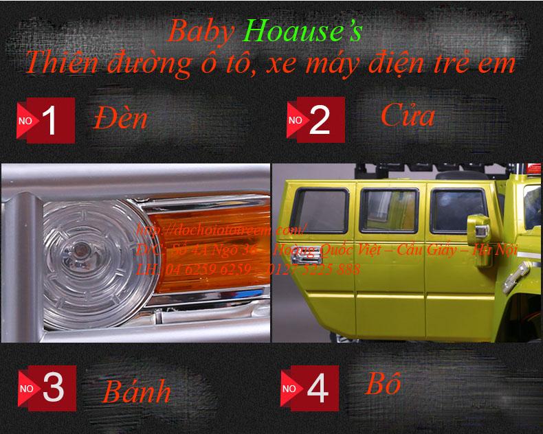 Chi tiết xe ô tô điện trẻ em JJ255A