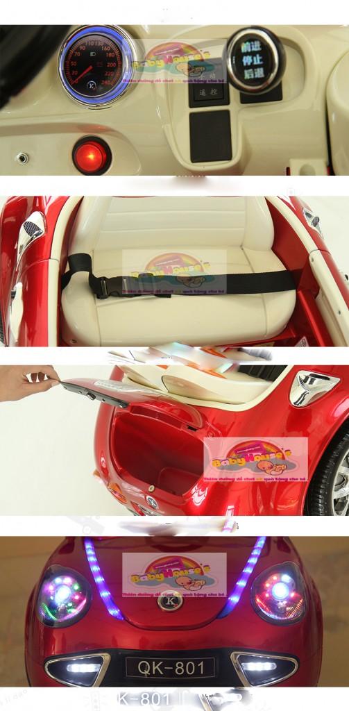 chi tiết xe ô tô điện trẻ em QK-801
