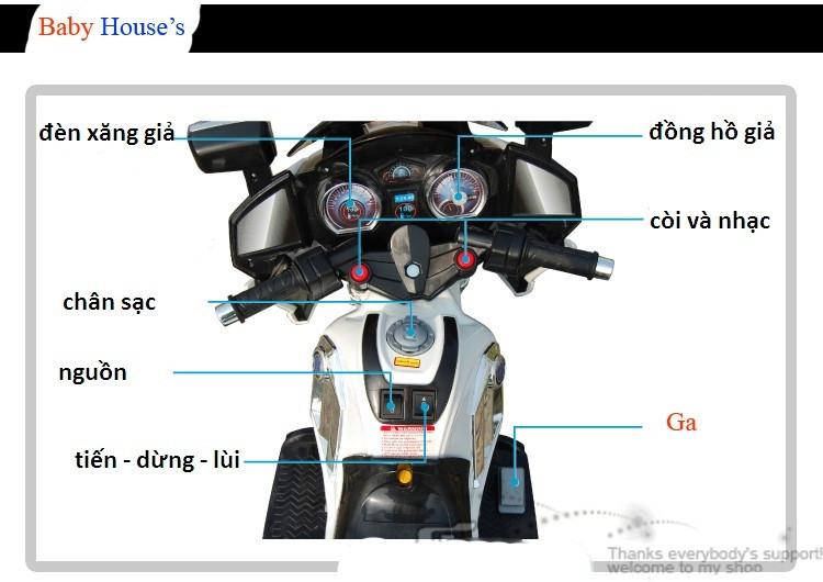 Chi tiết các chức năng xe máy điện trẻ em YH-8815