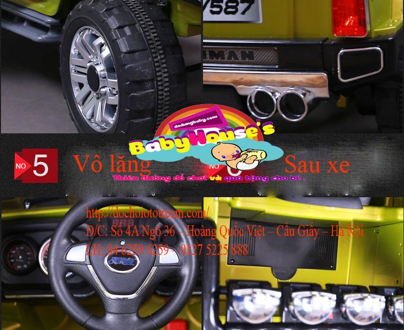 chi tiết một số bộ phận xe ô tô điện trẻ em JJ255A