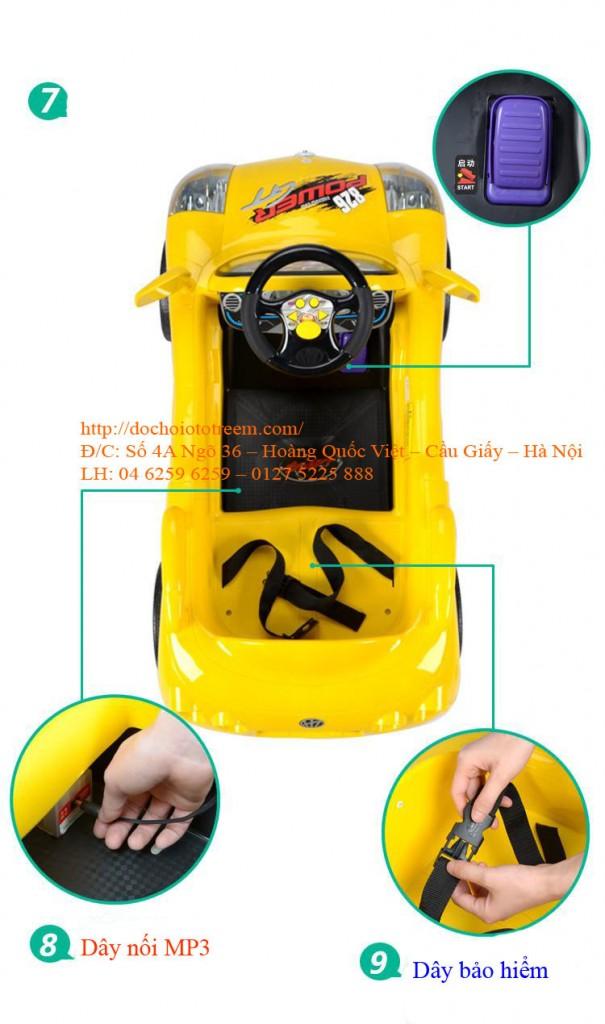 Xe ô tô trẻ em chạy điện| ô tô điện trẻ em 7996 cao cấp giá rẻ