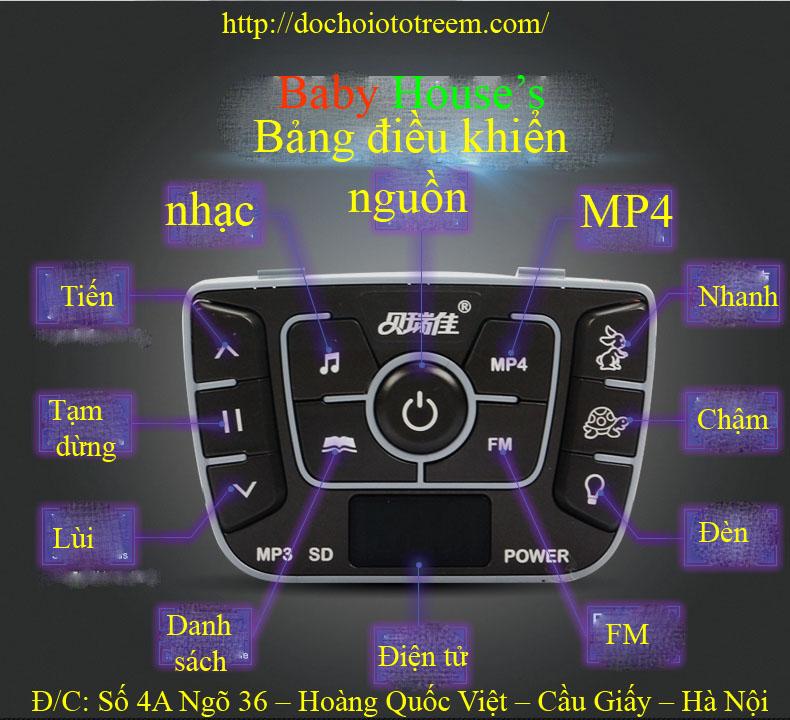 hướng dẫn màn hình xe ô tô điện trẻ em JJ255A