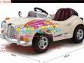 Kích thước xe ô tô điện trẻ em je128