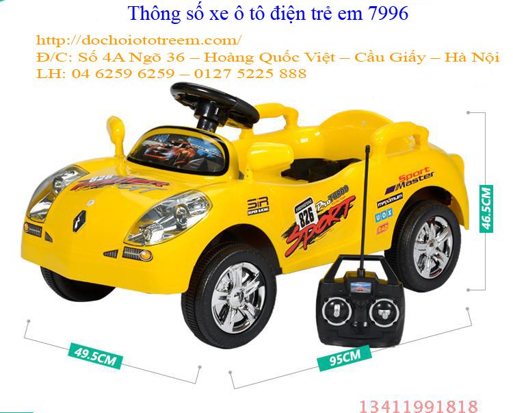 Ô tô điện trẻ em| Xe ô tô điện trẻ em 7996 cao cấp