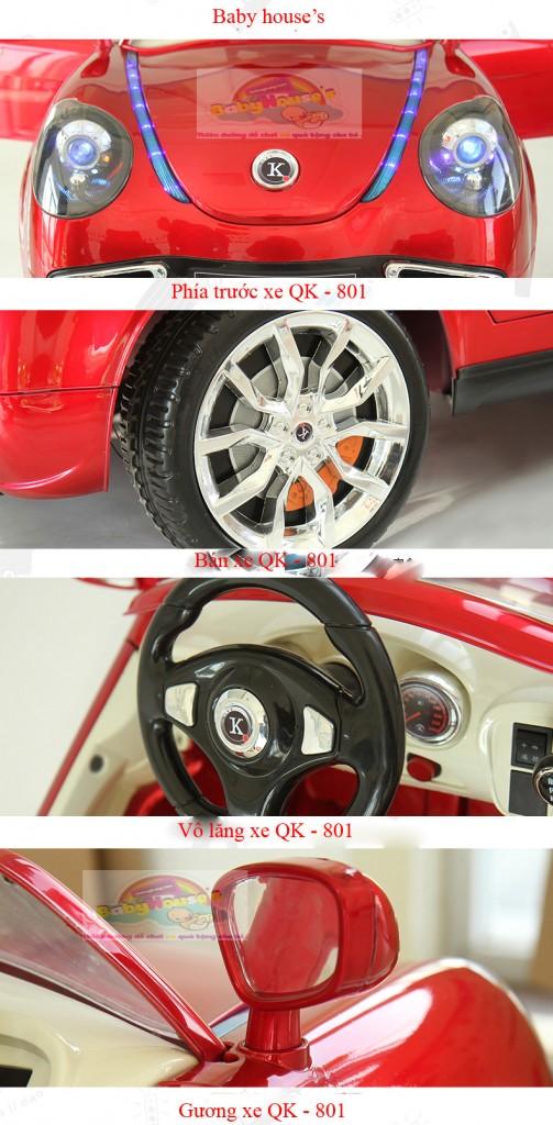 Xe ô tô trẻ em| ô tô trẻ em chạy điện QK-801 giá rẻ