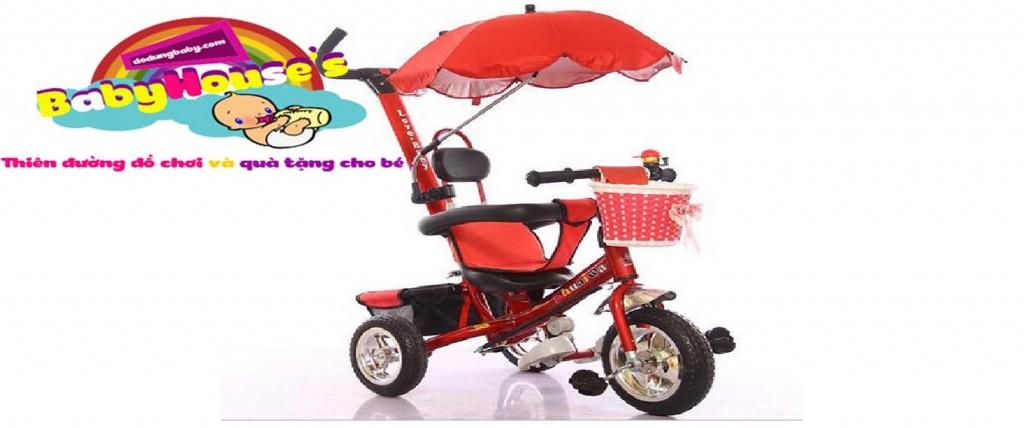 Xe ba bánh đảy trẻ em| xe ba bánh trẻ em 5190 cao cấp Hà Nội