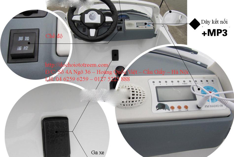 Chi tiết xe ô tô điện trẻ em 2 chỗ cao cấp JB15