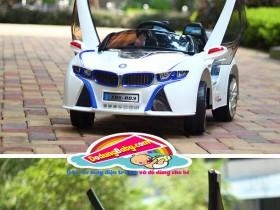 Xe ô tô điện trẻ em|xe ô tô điện trẻ em cao cấp XMX-308 màu trắng giá rẻ
