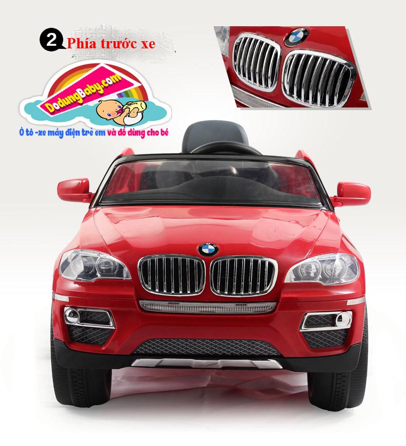 phía trước xe ô tô điện trẻ em BMW X6 tuyệt đẹp