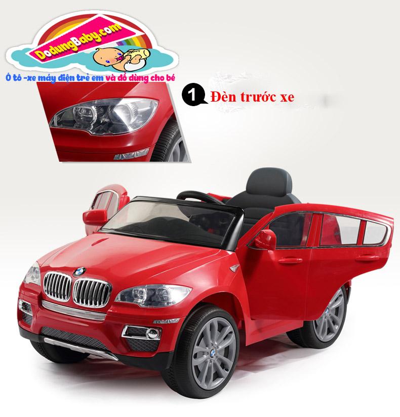 Đèn trước xe ô tô điện trẻ em BMW X6 giá rẻ hà nội