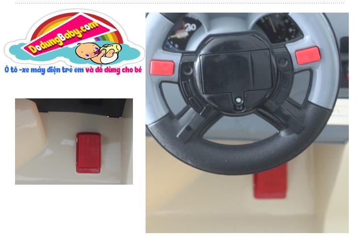 Ga chân ô tô điện trẻ em jj205 giá rẻ